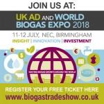 ¡¡Últimos días!! – UK AD y World Biogás Expo 2018- 11 y 12 de julio en Birmingham