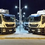 """EMAYA'S side loader waste collection service in Palma-Mallorca during the night"" by Timothy Byrne"
